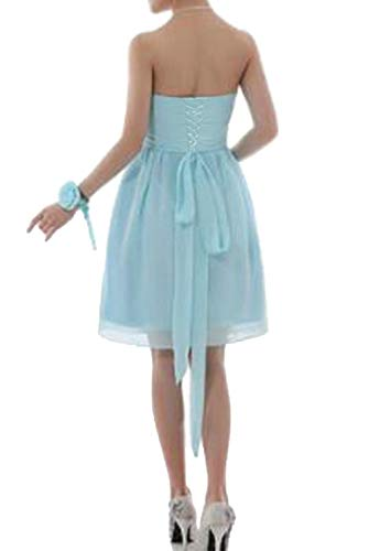 H.S.D Sweetheart Bridesmaid Dress Short Prom Evening Gowns Flower F Tiffany Blue 16W