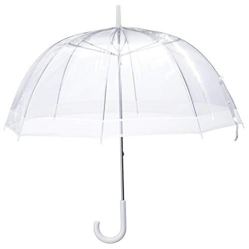 "Clear Dome Umbrella, Durable Wind-Resistant Umbrella with Sturdy Bubble Design, Dome Canopy 29"" Diameter…"