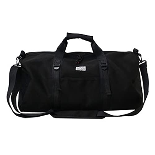 Bolsas de Gimnasio al Aire Libre Impermeable Oxford Sports Bag Hombres Mujeres Entrenamiento Fitness Travel Bolso Yoga Mat Bag Sac Sport Entrenamiento Bolso (Color : Black)