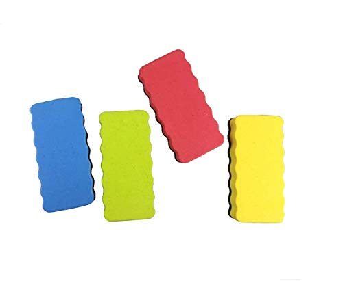Big Bargain Store 20er Pack 10,5 × 1,8 × 5,5 cm Trockenlöschung White Board Schaumreiniger Gummi für Trockenwischstifte Magnetic Whiteboard Radiergummi Starke Magnetstifte für alle Drywipe-Boards