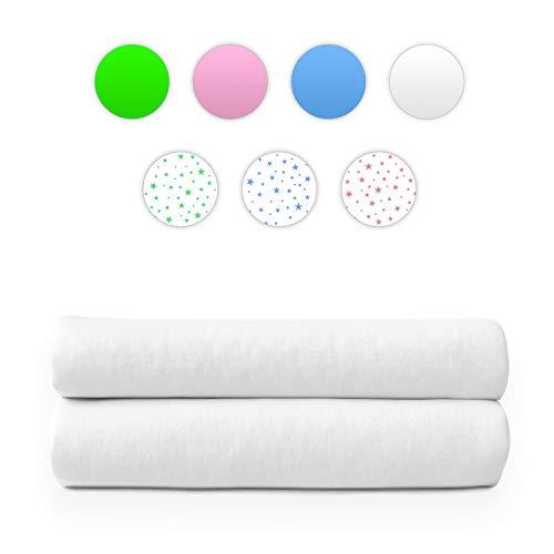 Alreya Moltontücher | Baumwolltücher | Spucktücher - 2er Pack | 80x80 cm - Weiß | Schadstoffgeprüft Hypoallergen | Baby Spucktücher | Flanelltücher | Mulltücher