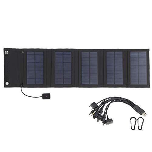 Mothinessto Soporte Función de Almacenamiento Bolsa Solar Fácil de Transportar Panel Solar Plegable Diseño Plegable Celda Solar Adecuado para tabletas para Consolas de Juegos portátiles