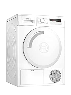 Bosch WTH84000GB Serie 4 Freestanding Heat Pump Tumble Dryer with AutoDry, Sensitive Drying System, Down Drying and Quick 40' drying, 8kg load, White