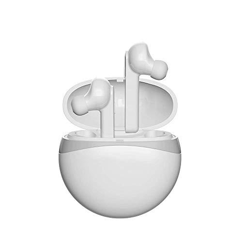 QCHEA Auriculares inalámbricos, Auriculares Bluetooth Auriculares Bluetooth portátiles V5.0 Mini Bluetooh Ear Buds Sonido estéreo 5H Tiempo de reproducción con micrófono y Estuche de Carga