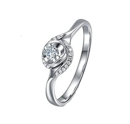 Bishilin Alianzas Oro Blanco 750, 0.08ct Diamante Anillo de Compromiso Anillo de Aniversario Ajuste Cómodo Aniversario Cumpleaños 0.08ct Diamantetamaño: 17