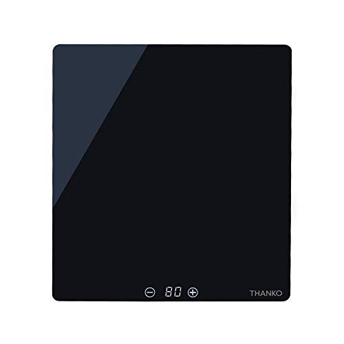 サンコー Mサイズピザにも対応 「フードウォーマープレートミニ」ブラック THA0203