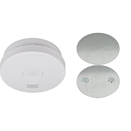 Rauchmelder RM L 3100 mit integrierter Batterie (10 Jahres Batterie, geprüft und zertifiziert nach VdS DIN EN 14604) mit Magnethalterung (BR 1000 für Rauchwarnmelder)
