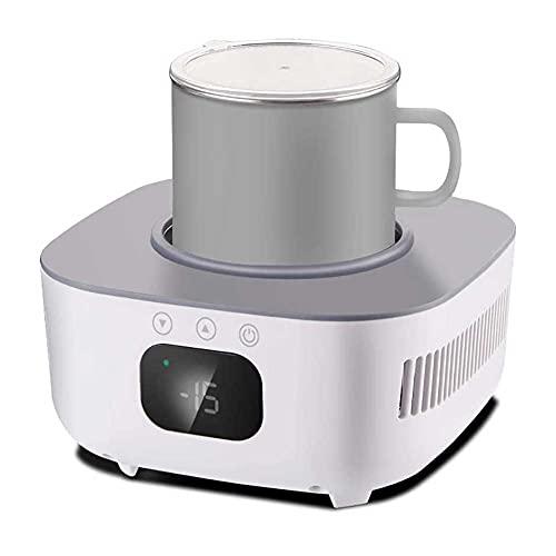 UKKD Mini montaña calurosa de enfriamiento rápido, Taza de refrigeración del Fabricante de Hielo de la Oficina del Dormitorio para el hogar para el Agua, la Leche, la Cerveza, el Cacao Fácil de Usar