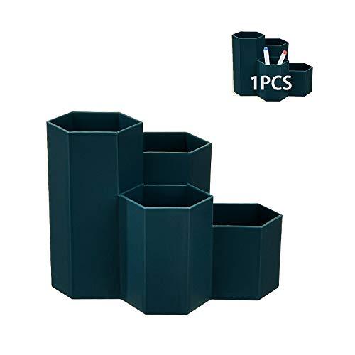 1 PCS Portapenne Esagonale Creativo,Portapenne Esagonale in Plastica,Organizer da Scrivania per Bambini ,Portapenne per Forniture da Ufficio