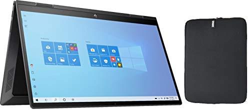 HP Envy X360 2-in-1 15.6 Inch FHD Touchscreen Laptop Bundle Woov Sleeve, AMD Six-Core Ryzen 5 4500U (Beat i7-7500U), 16GB...