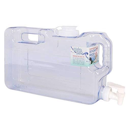 Acan Dispensador de Bebidas para frigorífico 4.2 L, Garrafa de plástico alimentario 20 x 38 x 6 cm, Botella con Grifo para Nevera