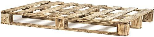 Dydaya Home Cama & Somier de palets para colchon de 90 cm por 170 Madera Oscurecida & Somieres & Bases de Cama de pallets