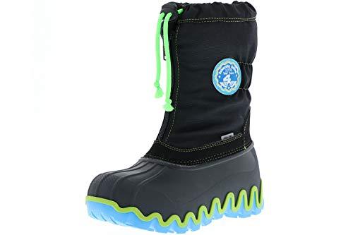 Vista Canada Polar Kinder Winterstiefel Snowboots schwarz, Größe:29/30, Farbe:Schwarz