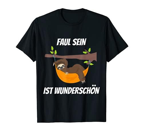 Faul Sein Ist Wunderschön Langschläfer Chill Faultier T-Shirt