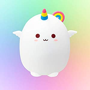 Cute Baby Unicorn Night Light for Kids,Gifts for Teen Girls/Children/Toddler,Kawaii Animal Led Lamp with Tap Control,Color Changing,Squishy Silicone Nursery Portable Lights Bedroom Room Decor Stuff