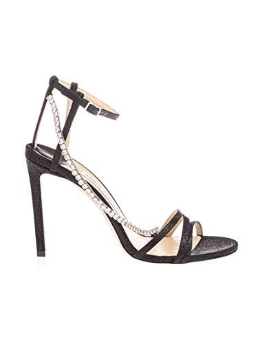 JIMMY CHOO Luxury Fashion Damen THAIA100GFYBLACK Schwarz Stoff Sandalen | Frühling Sommer 20