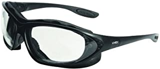 Uvex By Honeywell Seismic® 2.5 Diopter Safety Glasses With Black Polycarbonate Frame And Clear Polycarbonate Uvextreme® Anti-Fog Lens