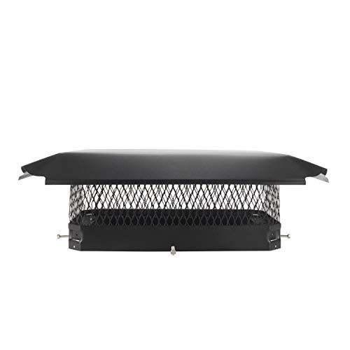 Draft King CBC1017 Black Bolt On Galvanized Steel Single Flue Chimney Cap for Use in California and Oregon