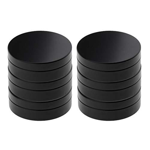 Perfeclan Kit de 6 Pot en Aluminium Boîte en Métal Mini Portable pour Baume Nail Art