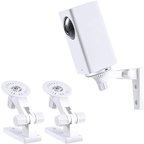 Blulu Wall Mount Bracket for Wyze Cam Pan, 360 Degree Adjustable Outdoor Indoor Security Mount, Compatible with Wyze Cam Pan 1080p Pan/Tilt/Zoom Wi-Fi Security Home Camera, 2 Pack