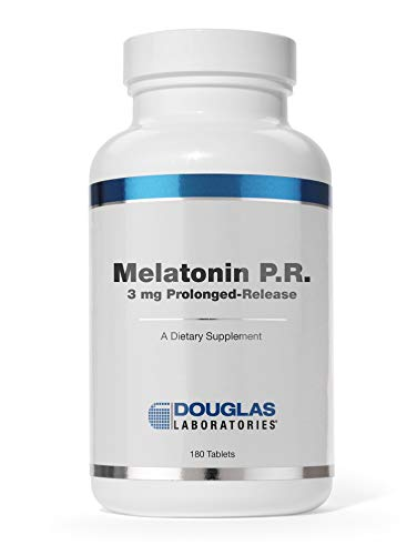 Douglas Laboratories - Melatonin P.R. - 3 mg Prolonged-Release Melatonin Supports Sleep/Wake Cycles - 180 Tablets