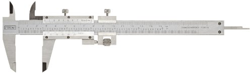 Fowler Full Warranty Vernier Caliper with Satin Chrome Finish and Stainless Steel Fine Adjustment, 52-058-016-0, 0-6