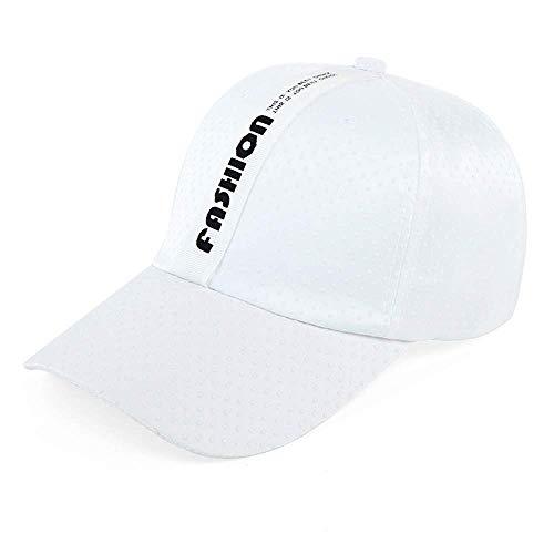 Vinteen White Snapback Hat Female Cap Sweet mooie zomer Sunscreen Koreaanse versie Doek Duck Tong Cap Hat Outdoor mevrouw Zomer Hat Cap Shade Wild (Color : White, Size : B)