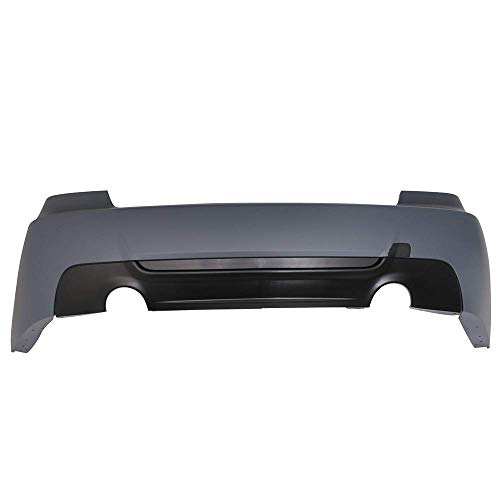 Bumper Compatible With 2007-2013 BMW E92 3 Series Coupe 335 335i | M-Tech Msport Rear Bumper Cover & Diffuserby IKON MOTORSPORTS | 2008 2009 2010 2011 2012