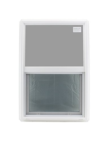 """Window 24"""" x 36"""" Double Pane Tempered Glass Low-E PVC Frame Vertical Slider"""