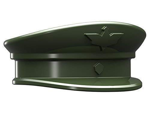 5 Combat Brick Custom WW2 Officier Chapeau pour Lego Figurines Vert WWII