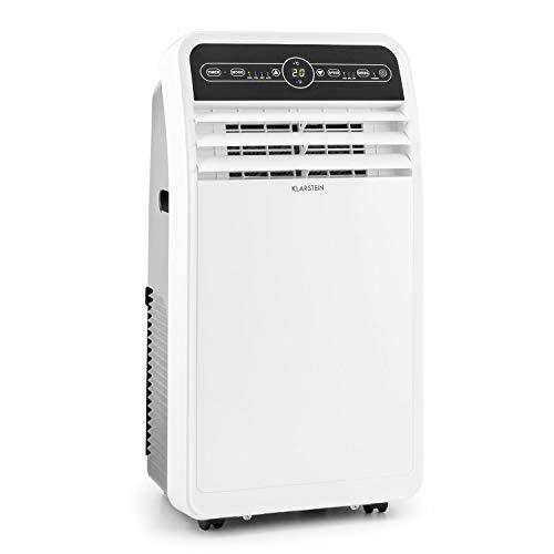 Klarstein Metrobreeze New York - Mobile Klimaanlage 3-in-1 Klimagerät: Ventilator, Kühlungs- und Luftentfeuchtungsfunktion (EEK: A, 17-30°C, Oszillation, Timer, Bodenrollen) 7.000 BTU/h, elfenbein
