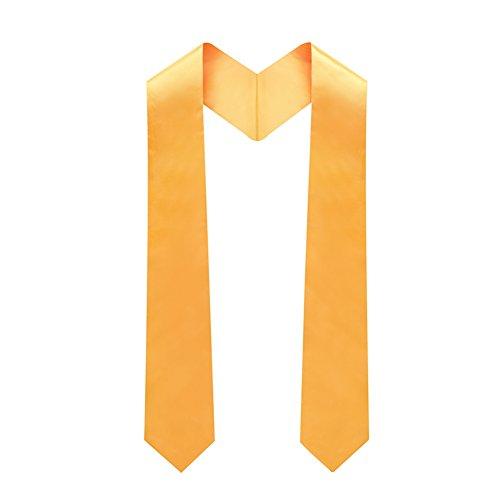 lescapsgown Adult Plain Graduation Stole 60'' long Gold