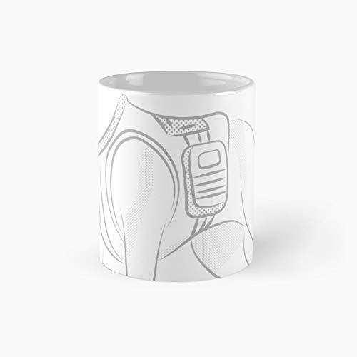 Taza clsica con diseo de perro de polica | El mejor regalo divertidas tazas de caf de 325 ml
