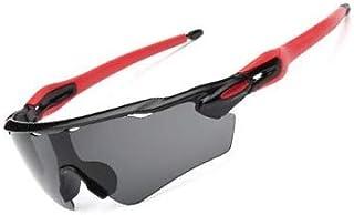 FUN'S LIFE [Amazon 限定ブランド] アスリート サングラス メンズ レディース スポーツサングラス UV400 紫外線カット 超軽量 ランニング 自転車 テニス 野球 ドライブ ゴルフ 釣り スキー FLSG0101001BK2