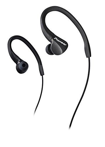 Pioneer SE-E3-B - Auriculares deportivo (resistente al agua IPX-2, clips ajustables) color negro