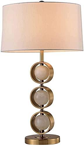 nakw88 Lámpara de Mesa Decorativa Minimalista Moderna Que Enciende el Poste de la lámpara de Metal de Lujo Lujo clásico salón Dormitorio Estudio lámpara a Prueba de Viento W40 * H70CM Lámpara de Mesa