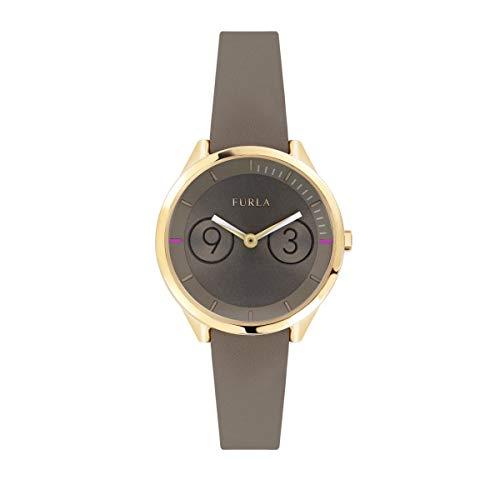 FURLA Damen Datum klassisch Quarz Uhr mit Leder Armband R4251102510
