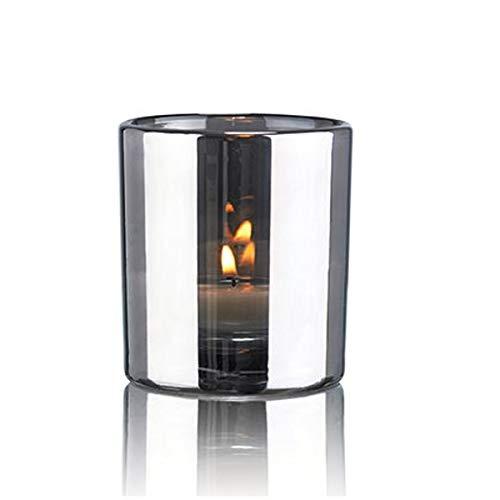 Skogsberg and Smart - Windlicht - Metallic - Farbe: Silber- m&geblasenes Glas - mit tollem Metallic-Effekt - Maße (ØxH): 8 x 9 cm