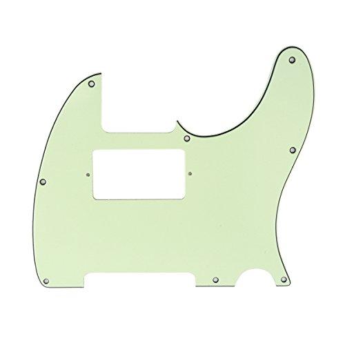 Musiclily 8 Löcher Tele Pickguard Humbucker Gitarren Schlagbrett für Fender USA/Mexican Standard Telecaster Modern Style,3 lagig Mint