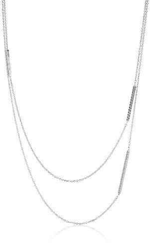 Joop Damen-Halskette ohne Anhänger Zirkonia weiss 72 cm 925 Sterling Silber JPNL90626A720