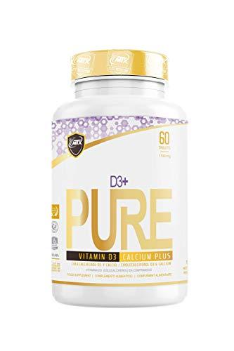 MTX nutrition D3 plus PURE 60 Comprimidos – Vitamina D para fortalecer sistema inmune, favorecer la absorción de calcio, la contracción muscular, la función nerviosa