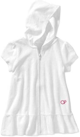 Toddler Girl Zip Up White Terry Swimwear Coverup Size 4T