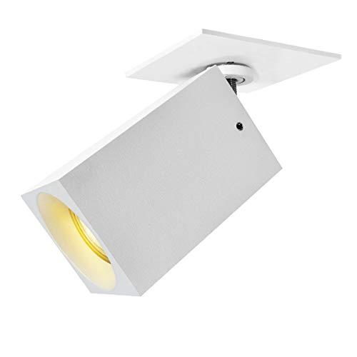 Budbuddy Plafondspot, wit, draaibaar, rond, led-plafondlamp, modern, keuken, woonkamer, stopcontact, GU10, 230 V, 6 W, inclusief lamp