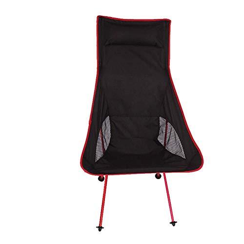 ZJING Ultraleichte Schwarze Tragbare Falten Outdoor Camping Stuhl Roter Mond Stuhl Orange Luftfahrt Aluminium Angeln Stuhl,Red