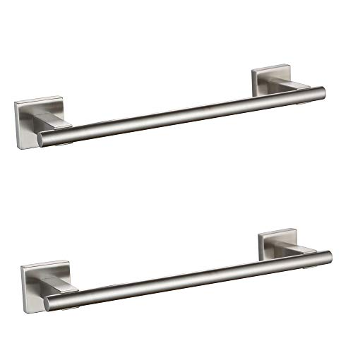 XVL Bathroom Towel Bar SUS304 Stainless Steel Kitchen Towel Hanger Hand Towel Holder 13.5 Inch Brushed 2 Pieces