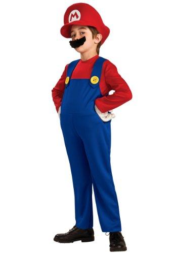 Déguisement de Super Mario 4-12 ans (taille S, 4-6 ans)
