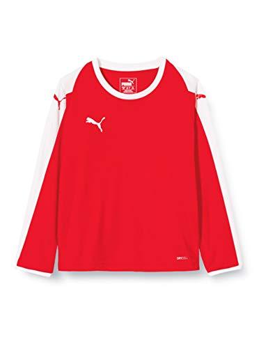 Puma 703421, Maglia Calcio Unisex Bambini, Red/White, 164