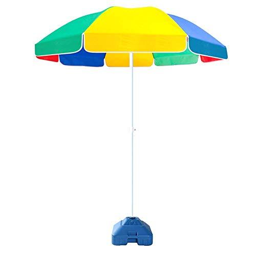Riyyow Paraguas Parasol de Paraguas Market de Color Paraguas, Muelle del césped Paraguas de Patio con 3.3ibs Base de Paraguas Llena de Agua, Relleno con Agua o Arena