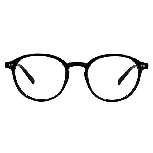 Foxmans Lunettes dordinateur avec blocage de la lumière bleue - Le Lennon | Utilisation Quotidienne (cadre noir)