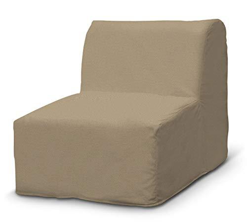Dekoria Lycksele Sesselbezug Sofahusse passend für IKEA Modell Lycksele beige